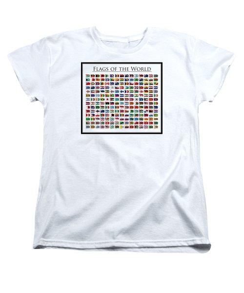 Flags Of The World Women's T-Shirt (Standard Cut) by Carsten Reisinger