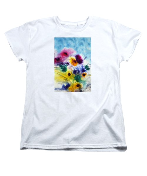Fleurs Women's T-Shirt (Standard Cut) by Joan Hartenstein