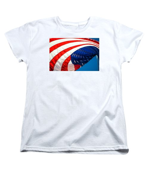 Floating Flag  Women's T-Shirt (Standard Cut) by Mary Ward