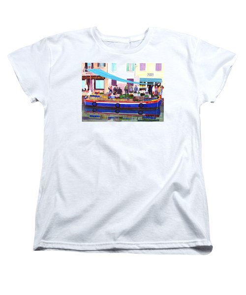 Floating Grocery Store Women's T-Shirt (Standard Cut) by Mike Robles