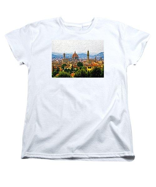 Florence Impasto Women's T-Shirt (Standard Cut) by Steve Harrington