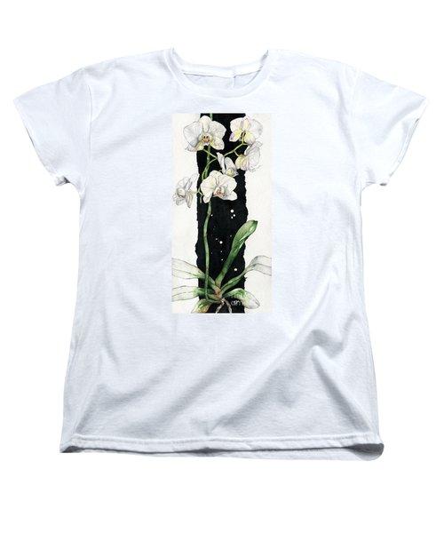 Flower Orchid 05 Elena Yakubovich Women's T-Shirt (Standard Cut) by Elena Yakubovich