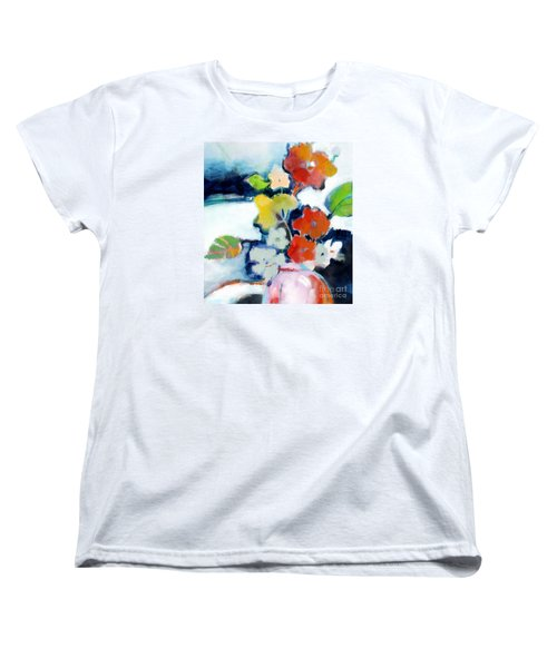 Women's T-Shirt (Standard Cut) featuring the painting Flower Vase No.1 by Michelle Abrams