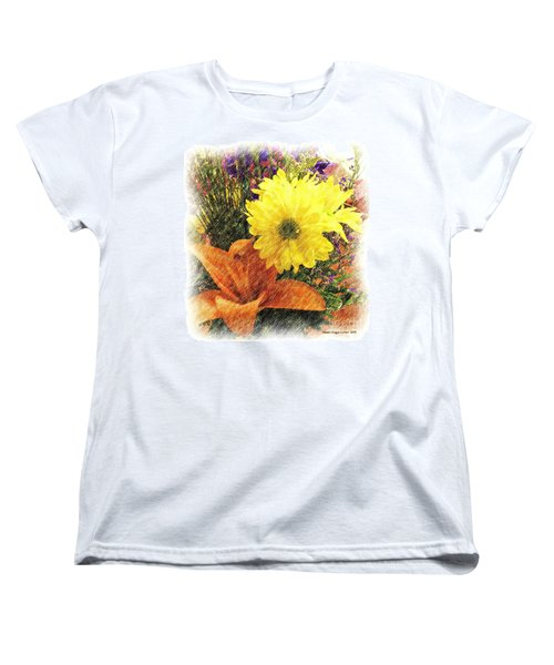 Women's T-Shirt (Standard Cut) featuring the photograph Flowers With Love by Luther Fine Art