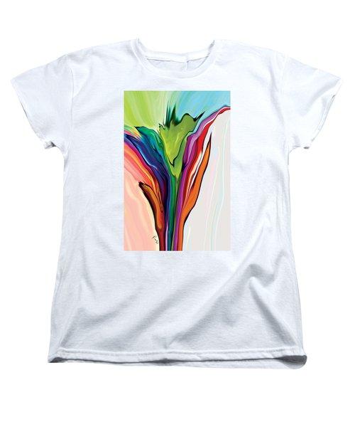 Flowery 5 Women's T-Shirt (Standard Cut) by Rabi Khan