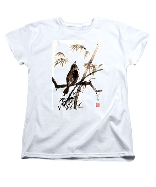 Women's T-Shirt (Standard Cut) featuring the painting Focus by Bill Searle