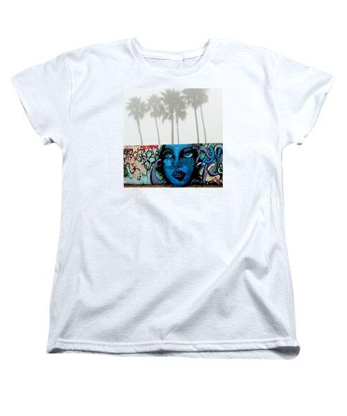 Foggy Venice Beach Women's T-Shirt (Standard Cut) by Art Block Collections