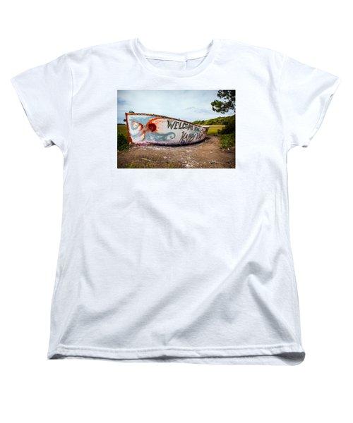 Women's T-Shirt (Standard Cut) featuring the photograph Folly Boat by Sennie Pierson