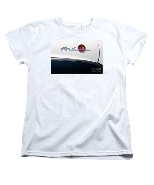 Ford F-100 Women's T-Shirt (Standard Cut) by Linda Bianic