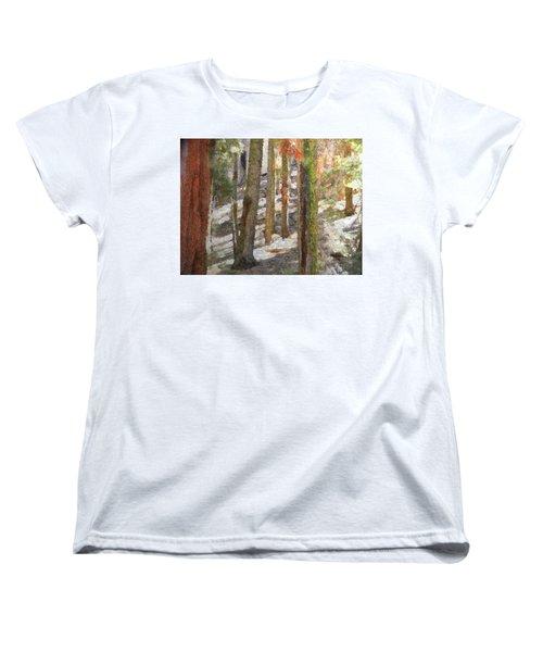 Forest For The Trees Women's T-Shirt (Standard Cut) by Jeff Kolker