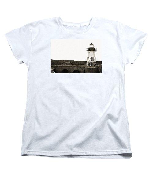 Fort Point Lighthouse Women's T-Shirt (Standard Cut) by Holly Blunkall