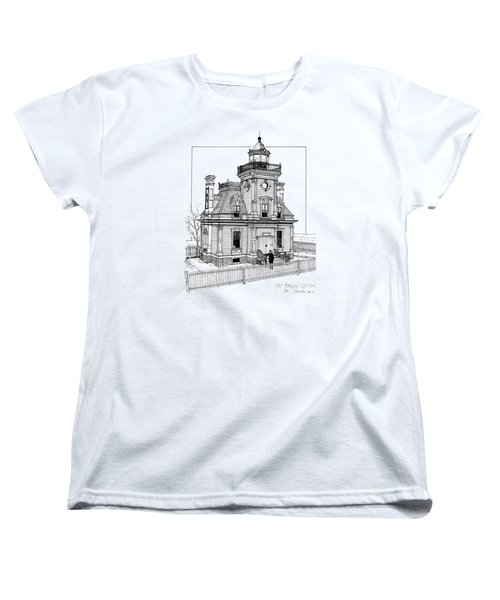 Fort Tompkins Lighthouse Women's T-Shirt (Standard Cut) by Ira Shander