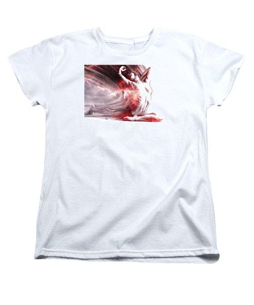 Fount Iv Textured Women's T-Shirt (Standard Cut) by Paul Davenport