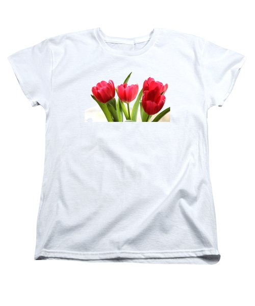 Four Tulips Women's T-Shirt (Standard Cut) by Menachem Ganon