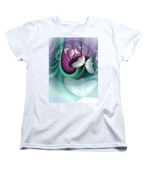 Fractal A Dream Of Butterflies Women's T-Shirt (Standard Cut) by Gabiw Art