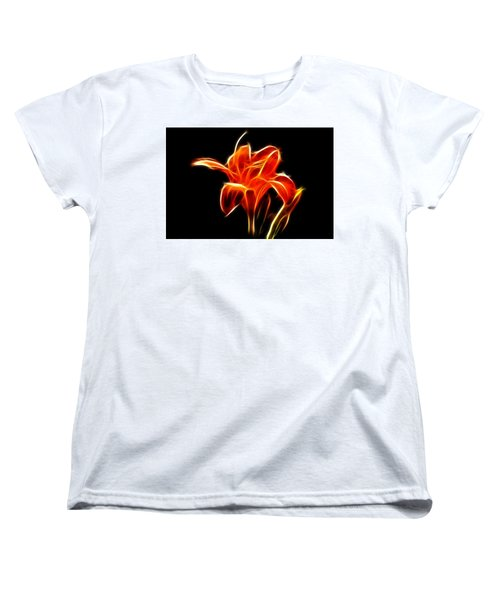 Women's T-Shirt (Standard Cut) featuring the  Fractaled Lily by Bill Barber