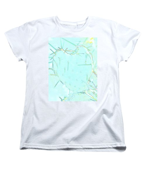 Women's T-Shirt (Standard Cut) featuring the photograph Fragile Heart by Roselynne Broussard