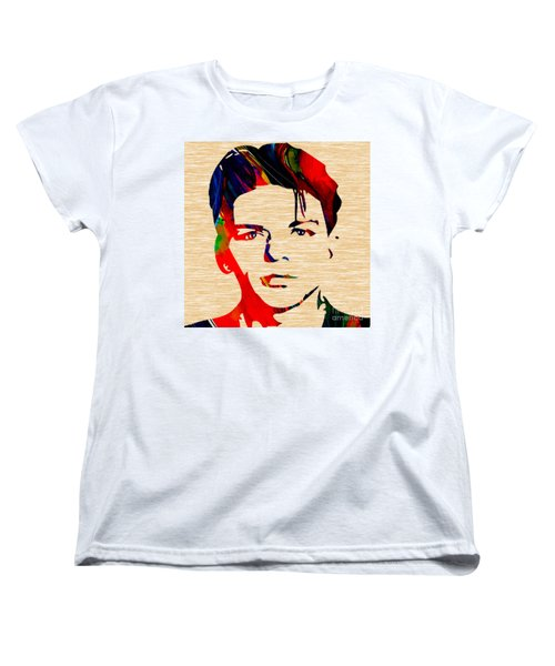 Frank Sinatra Art Women's T-Shirt (Standard Cut) by Marvin Blaine