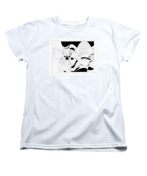 Women's T-Shirt (Standard Cut) featuring the painting French Bulldog by Barbara Chichester
