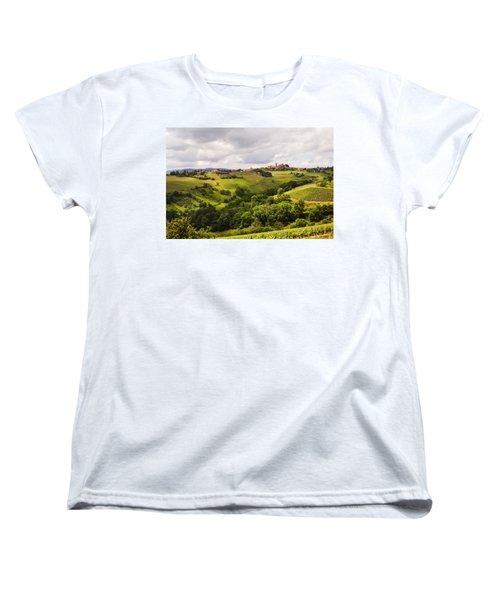 Women's T-Shirt (Standard Cut) featuring the photograph French Countryside by Allen Sheffield