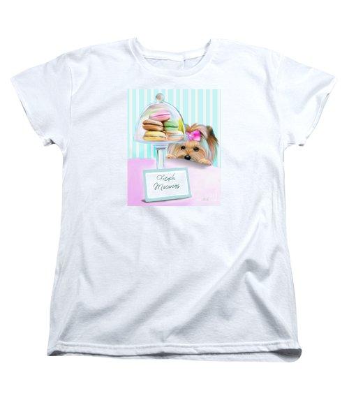 French Macarons Women's T-Shirt (Standard Cut) by Catia Cho