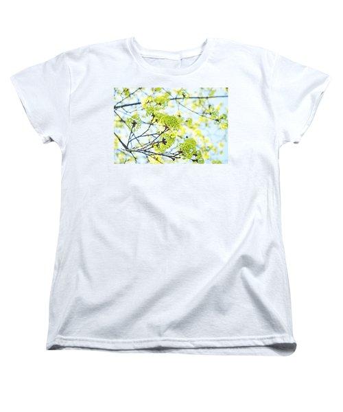 Women's T-Shirt (Standard Cut) featuring the photograph Fresh Spring Green Buds by Brooke T Ryan