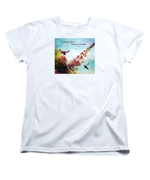 Women's T-Shirt (Standard Cut) featuring the photograph Friends Are .....  by Kerri Farley