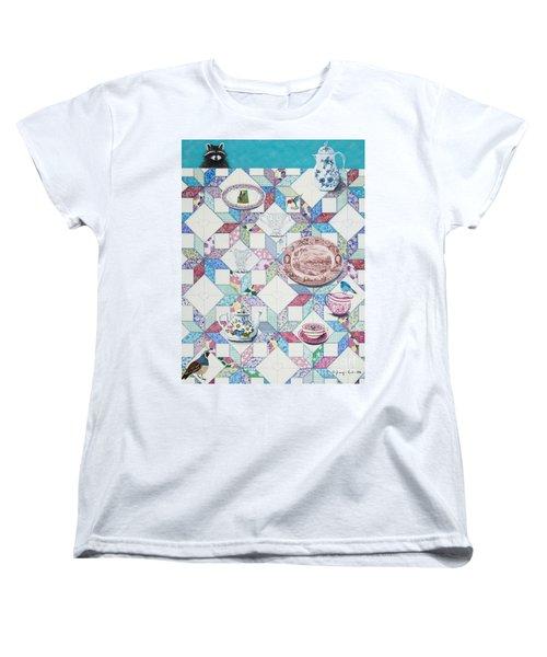 Friends Come To Tea Women's T-Shirt (Standard Cut) by Jennifer Lake