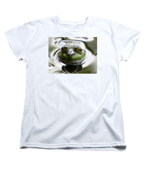 Women's T-Shirt (Standard Cut) featuring the photograph Frog Kiss by Dianne Cowen