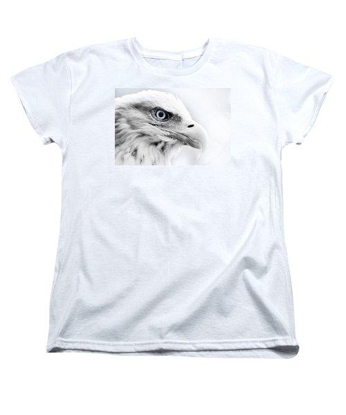 Frosty Eagle Women's T-Shirt (Standard Cut) by Shane Holsclaw