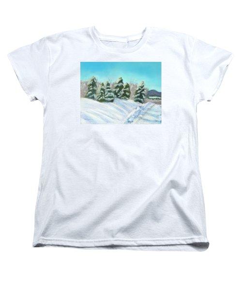 Women's T-Shirt (Standard Cut) featuring the painting Frozen Sunshine by Arlene Crafton