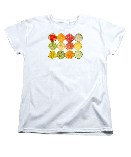 Fruit Market Women's T-Shirt (Standard Cut) by Steve Gadomski