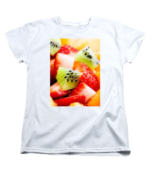 Fruit Salad Macro Women's T-Shirt (Standard Cut) by Johan Swanepoel