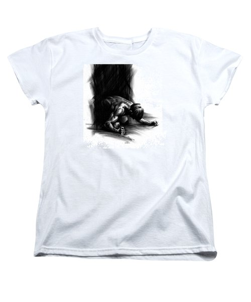 Women's T-Shirt (Standard Cut) featuring the drawing Frustration by Paul Davenport