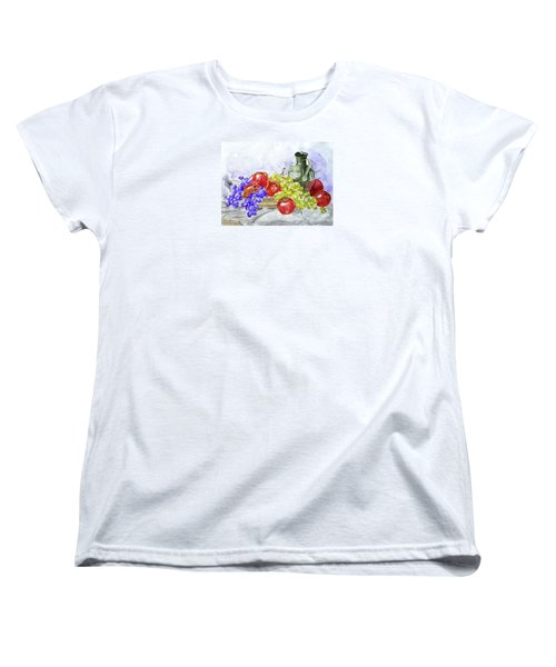 Women's T-Shirt (Standard Cut) featuring the painting Fruit After Him by Jasna Dragun