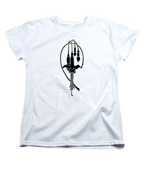 Fuchsia Stencil Art Women's T-Shirt (Standard Cut) by Karon Melillo DeVega