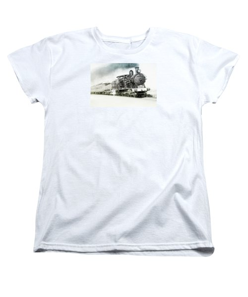 Women's T-Shirt (Standard Cut) featuring the photograph Full Steam Ahead by Kevin Chippindall