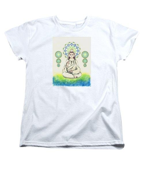 Fureai Quan Yin In Kyoto Women's T-Shirt (Standard Cut) by Keiko Katsuta