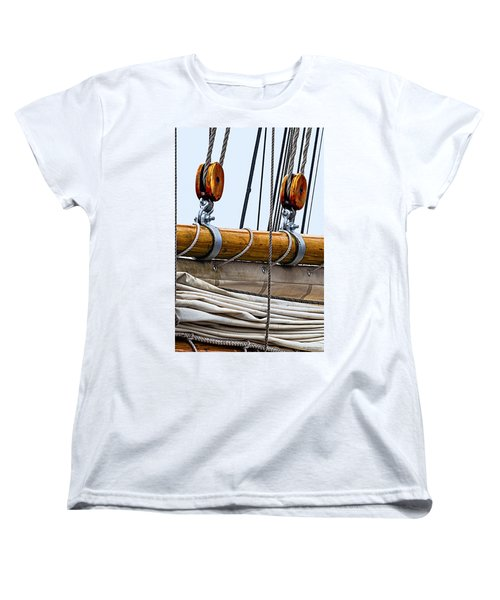 Women's T-Shirt (Standard Cut) featuring the photograph Gaff And Mainsail by Marty Saccone