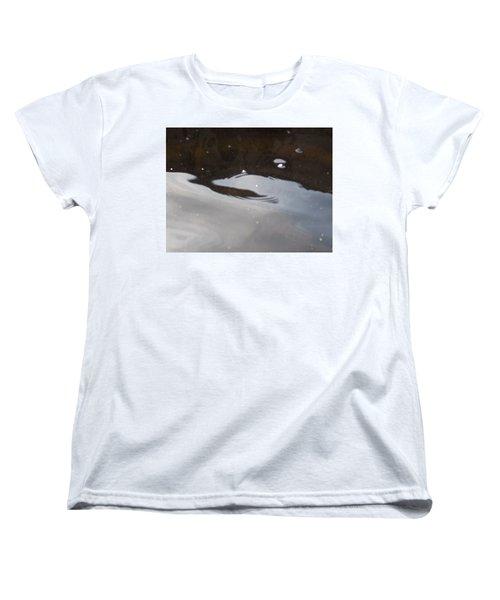 Women's T-Shirt (Standard Cut) featuring the photograph Water In Space  by Deborah Moen