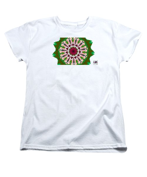 Women's T-Shirt (Standard Cut) featuring the digital art Garden Party by Elizabeth McTaggart