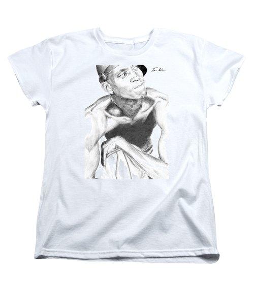 Women's T-Shirt (Standard Cut) featuring the drawing Garnett 2 by Tamir Barkan
