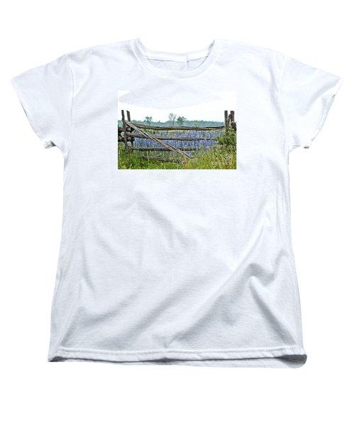 Gate To Blue Women's T-Shirt (Standard Cut) by Cheryl Baxter