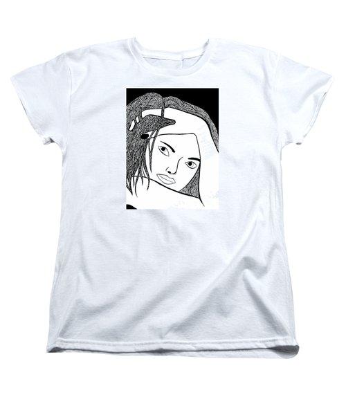 Women's T-Shirt (Standard Cut) featuring the drawing Genuine by Jamie Lynn