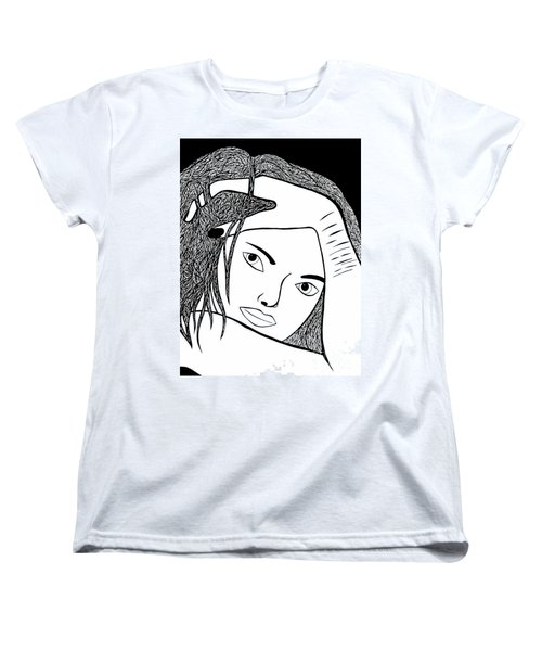 Women's T-Shirt (Standard Cut) featuring the drawing Genuine Scars by Jamie Lynn