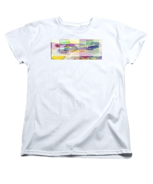 Women's T-Shirt (Standard Cut) featuring the digital art Geo-art by Cathy Anderson