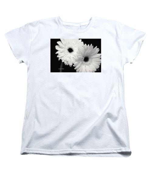 Women's T-Shirt (Standard Cut) featuring the photograph Gerbera Daisy Sisters by Jeannie Rhode