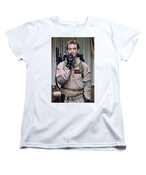 Women's T-Shirt (Standard Cut) featuring the painting Ghostbusters - Bill Murray Artwork 2 by Sheraz A