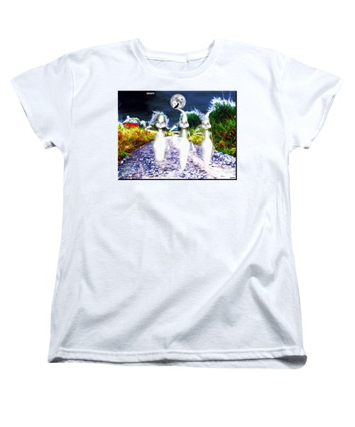 Women's T-Shirt (Standard Cut) featuring the digital art Ghosts by Daniel Janda