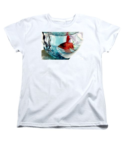 Women's T-Shirt (Standard Cut) featuring the photograph Glamor Rudy by Valerie Reeves